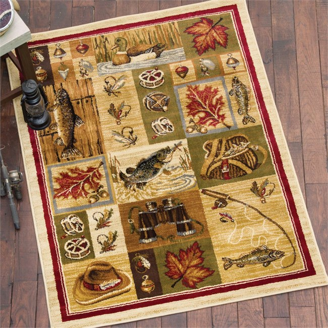 Fly Fishing Time Rug