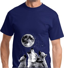 Image of 3 Wolf Moon Bottom Print Shirt
