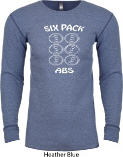 Image of 6 Pack Abs Beer Funny Long Sleeve Thermal Shirt