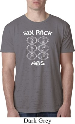 Image of 6 Pack Abs Beer Funny Mens Burnout Shirt