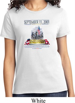 Image of 9-11 Never Forget Ladies Shirt