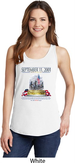Image of 9-11 Never Forget Ladies Tank Top