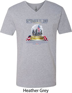Image of 9-11 Never Forget Mens V-Neck Shirt