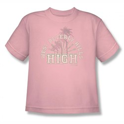 Image of 90210 Shirt Kids Beverly Hills High Pale Pink T-Shirt