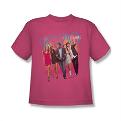 Image of 90210 Shirt Kids Walking Hot Pink T-Shirt