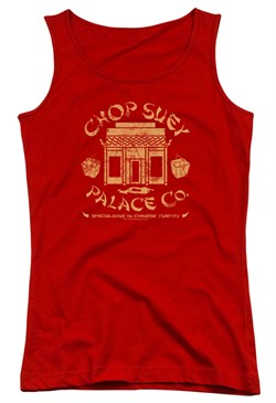 Image of A Christmas Story Juniors Tank Top Chop Suey Palace Co Red Tanktop
