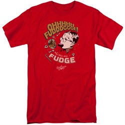 Image of A Christmas Story Shirt Oh Fudge Red Tall T-Shirt