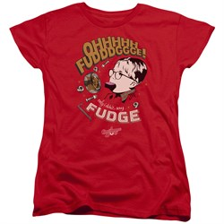 Image of A Christmas Story Womens Shirt Oh Fudge Red T-Shirt
