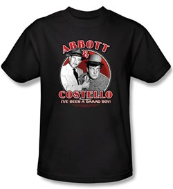Image of Abbott & Costello Shirt Funny Bad Boy Adult Black Tee T-Shirt