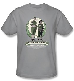 Image of Abbott & Costello Shirt Funny Be All You Can Be Silver Tee T-Shirt