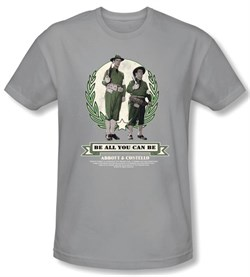 Image of Abbott & Costello Shirt Be All You Can Be Silver Slim Fit Tee T-shirt