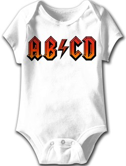 Image of ABCD Funny Baby Romper White Infant Babies Creeper