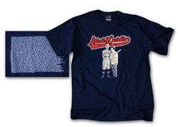Image of Abbott & Costello T-shirt Who's on First Navy Blue Tee Shirt
