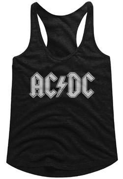 Image of AC/DC Juniors Tank Top Band Logo Black Racerback