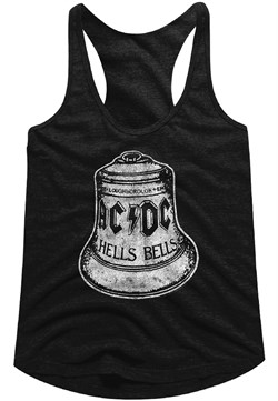 Image of AC/DC Juniors Tank Top Hells Bells Black Racerback