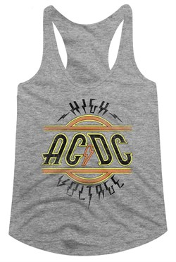 Image of AC/DC Juniors Tank Top High Voltage Athletic Heather Racerback