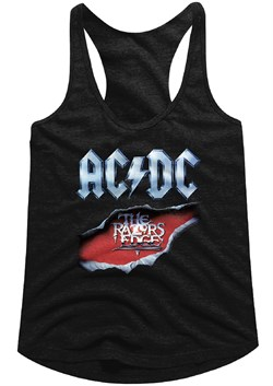 Image of AC/DC Juniors Tank Top Razor's Edge Black Racerback