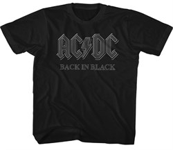 Image of AC/DC Kids Shirt Back In Black Black Youth T-Shirt