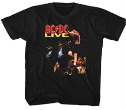 Image of AC/DC Kids Shirt Live Black T-Shirt