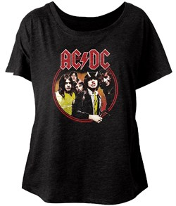 Image of AC/DC Ladies Shirt Highway To Hell Black Dolman T-Shirt