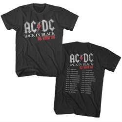 Image of AC/DC Shirt Back In Black UK Tour 80 Black T-Shirt