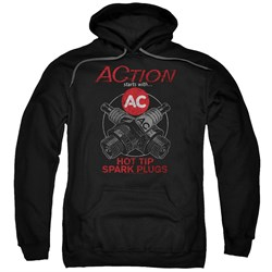 Image of AC Delco Hoodie Hot Tip Spark Plugs Black Sweatshirt Hoody