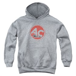 Image of AC Delco Kids Hoodie Fire Ring Spark Plugs Athletic Heather Youth Hoody