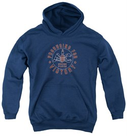 Image of AC Delco Kids Hoodie Spark Plugs Victory Navy Blue Youth Hoody