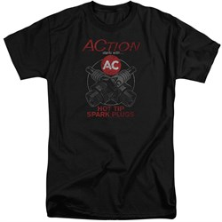 Image of AC Delco Shirt Hot Tip Spark Plugs Tall Black T-Shirt