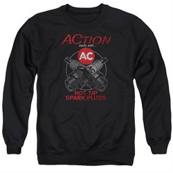 Image of AC Delco Sweatshirt Hot Tip Spark Plugs Adult Black Sweat Shirt
