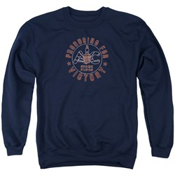 Image of AC Delco Sweatshirt Spark Plugs Victory Adult Navy Blue Sweat Shirt