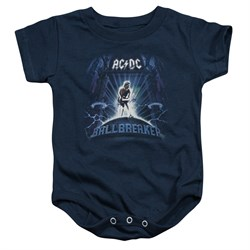 Image of ACDC Baby Romper Ball Breaker Navy Infant Babies Creeper