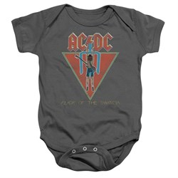 Image of ACDC Baby Romper Flick Of The Switch Charcoal Infant Babies Creeper