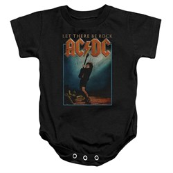 Image of ACDC Baby Romper Let There Be Rock Black Infant Babies Creeper