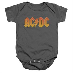 Image of ACDC Baby Romper Logo Charcoal Infant Babies Creeper