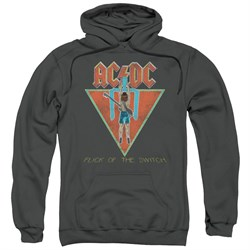 Image of ACDC Hoodie Flick Of The Switch Charcoal Sweatshirt Hoody