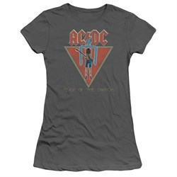 Image of ACDC Juniors Shirt Flick Of The Switch Charcoal T-Shirt
