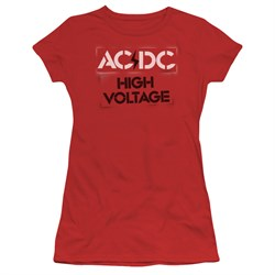 Image of ACDC Juniors Shirt High Voltage Red T-Shirt