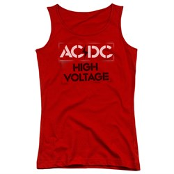 Image of ACDC Juniors Tank Top High Voltage Red Tanktop