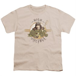 Image of ACDC Kids Shirt High Voltage Cream T-Shirt