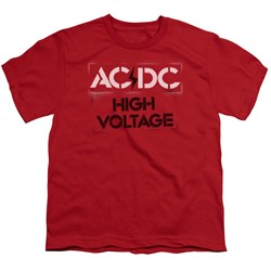 Image of ACDC Kids Shirt High Voltage Red T-Shirt
