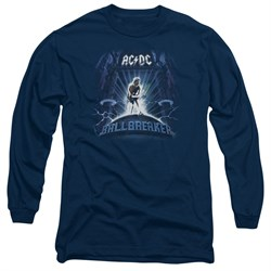 Image of ACDC Long Sleeve Shirt Ball Breaker Navy Tee T-Shirt