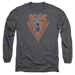 Image of ACDC Long Sleeve Shirt Flick Of The Switch Charcoal Tee T-Shirt