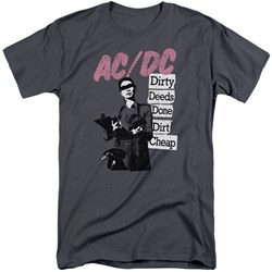 Image of ACDC Shirt Dirty Deeds Charcoal Tall T-Shirt