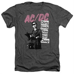 Image of ACDC Shirt Dirty Deeds Heather Charcoal T-Shirt