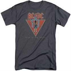 Image of ACDC Shirt Flick Of The Switch Charcoal Tall T-Shirt