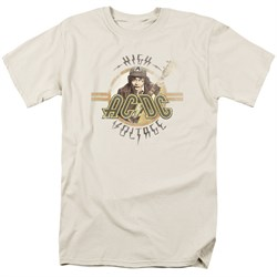 Image of ACDC Shirt High Voltage Cream T-Shirt