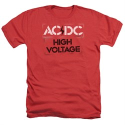 Image of ACDC Shirt High Voltage Heather Red T-Shirt