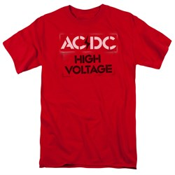 Image of ACDC Shirt High Voltage Red T-Shirt