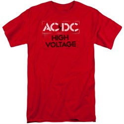Image of ACDC Shirt High Voltage Red Tall T-Shirt